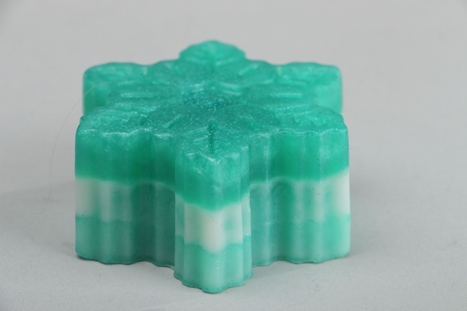 New Year's homemade soap Mint Snowflake photo 2