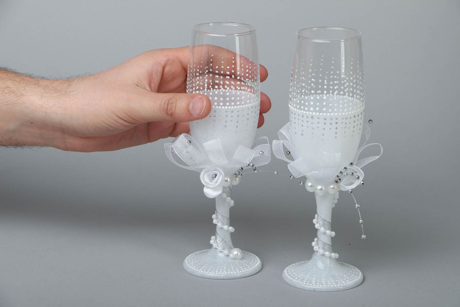 Wedding glasses for groom and bride photo 4