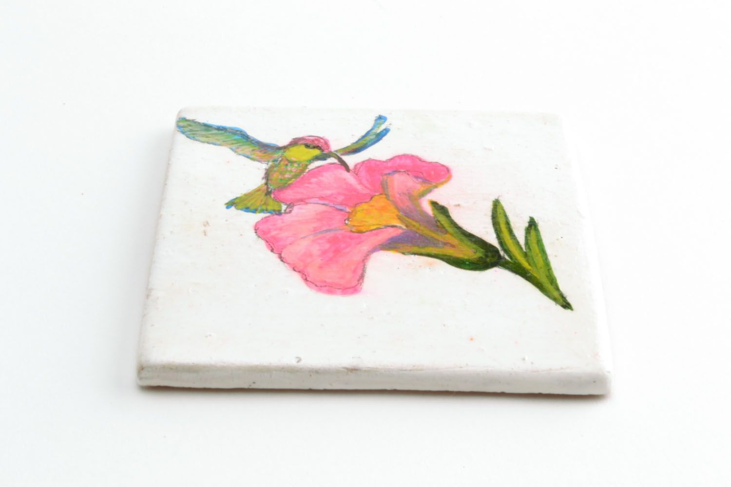 Homemade ceramic fridge magnet photo 3