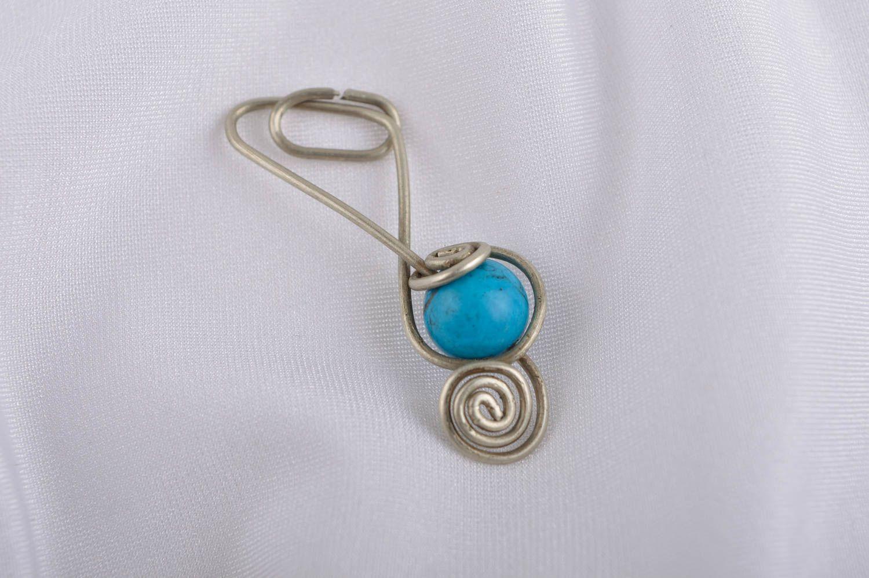 Stylish handmade metal neck pendant stone pendant beaded pendant design photo 1