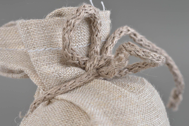 Soft textile sachet sack handmade souvenir for home cute interior details photo 4