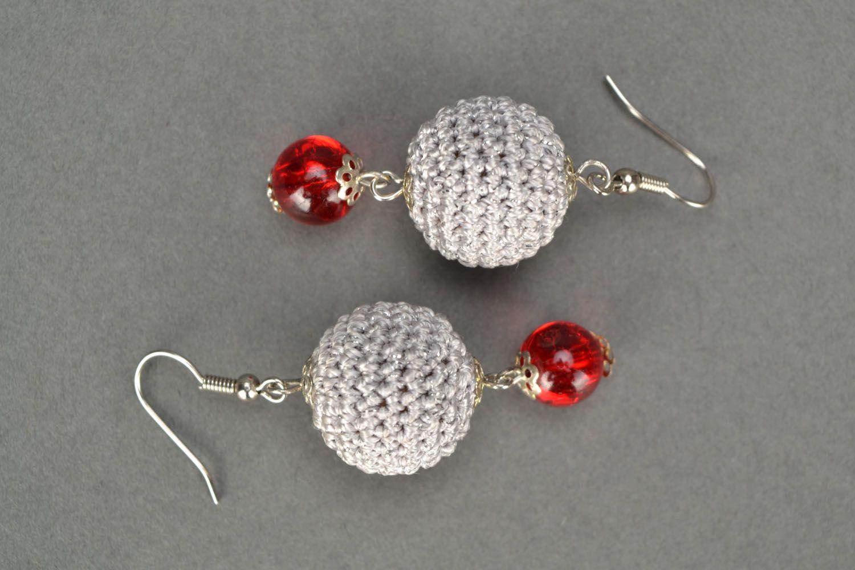 Crocheted earrings photo 3