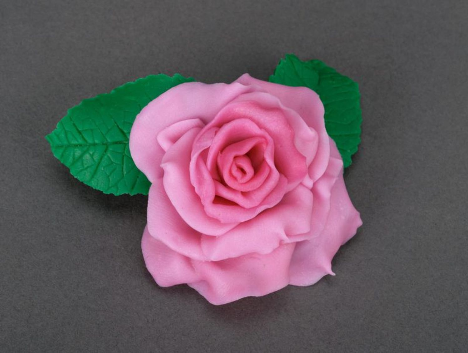 Brooch made of polymer clay photo 1