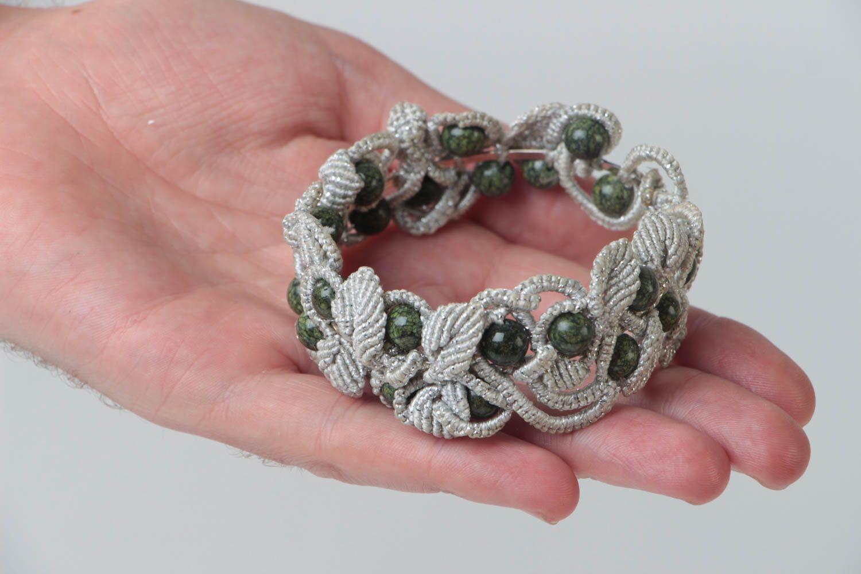 Armband aus Stoff handgemacht Damen Armband effektvoll Schmuck für Frauen foto 5
