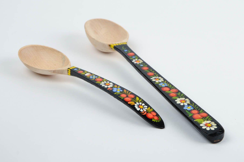 Madeheart cucharas de madera decoradas artesanales - Cosas de cocina originales ...