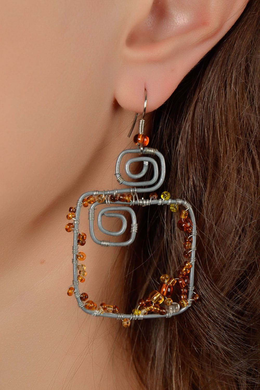 Earrings with natural stones photo 5