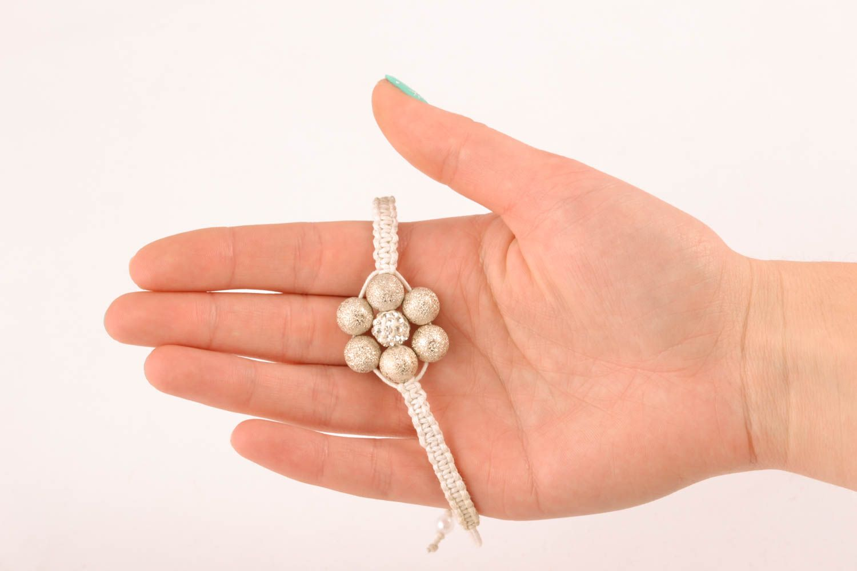 Handmade bracelet with ceramic beads and cord photo 4