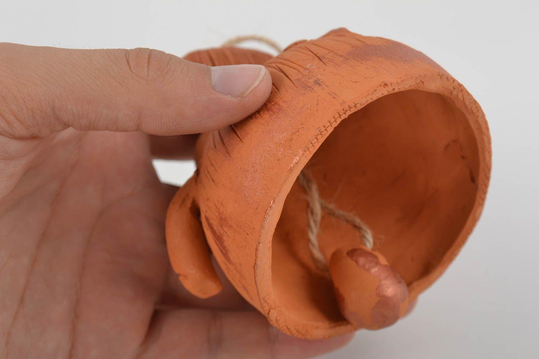 Unusual beautiful handmade designer molded clay bell Monkey photo 3
