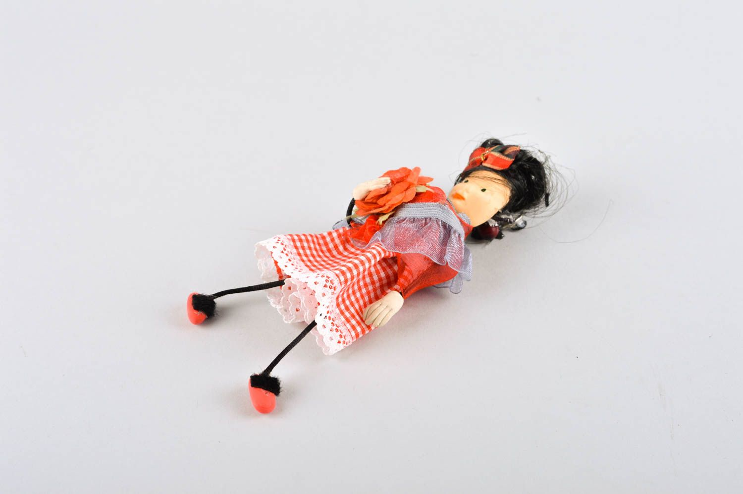Beautiful handmade fabric toy rag doll collectible dolls decorative use only photo 5