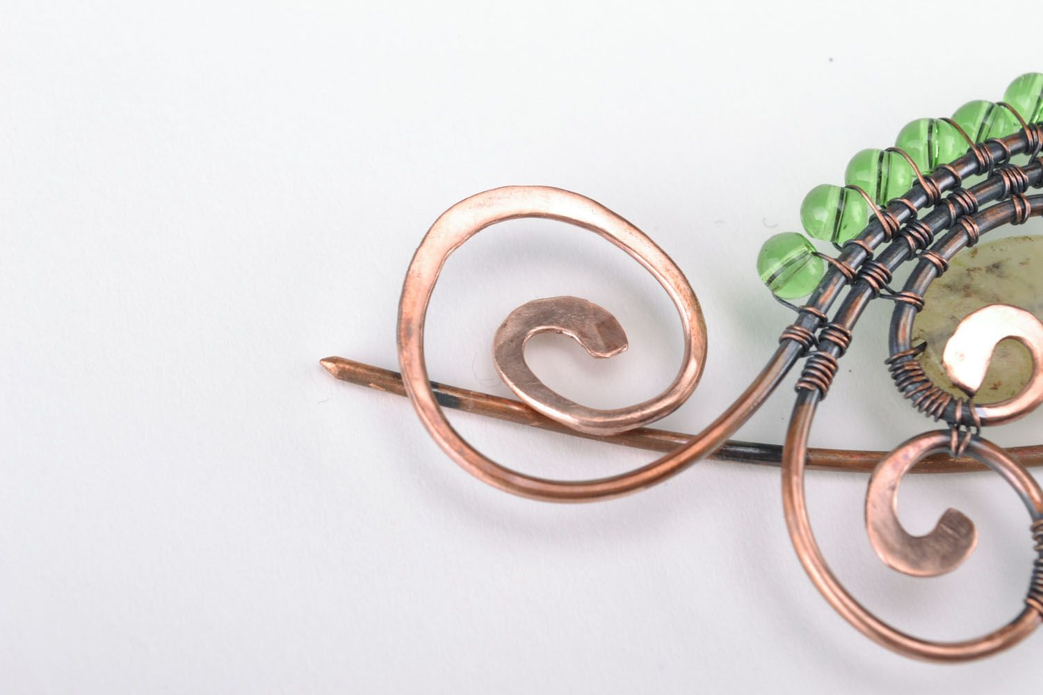 Copper brooch photo 4