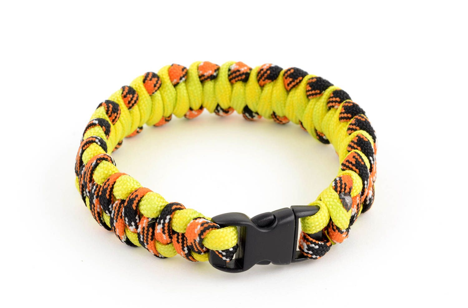 Handmade paracord bracelet parachute cord bracelet hiking equipment cool gifts photo 2
