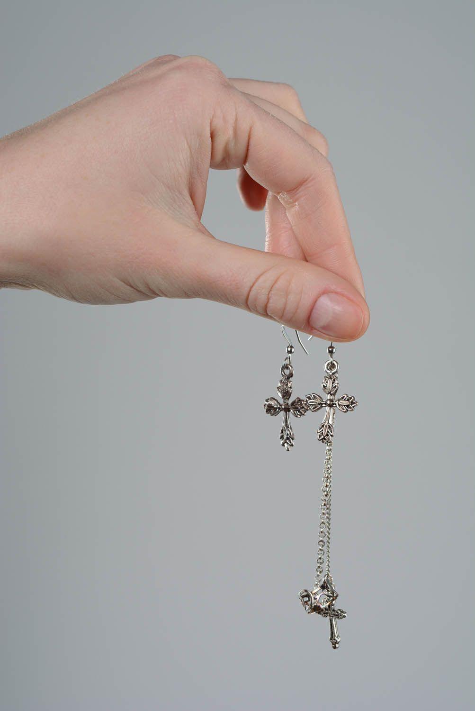 Cuff earrings Lace Cross photo 4