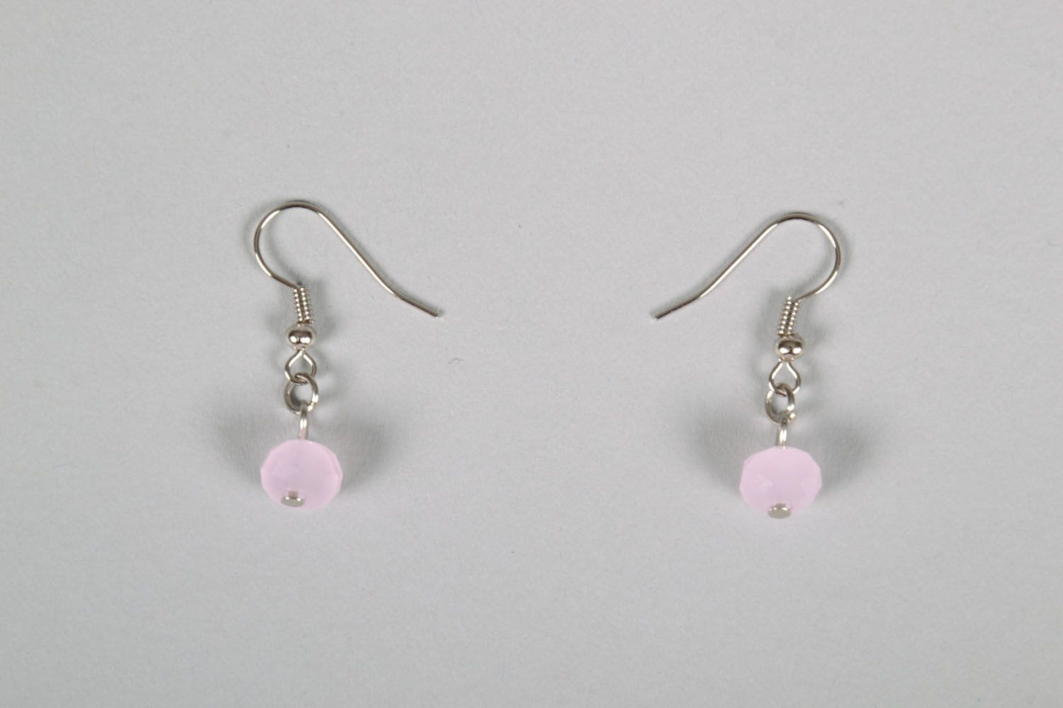 Beaded earrings with charms photo 2