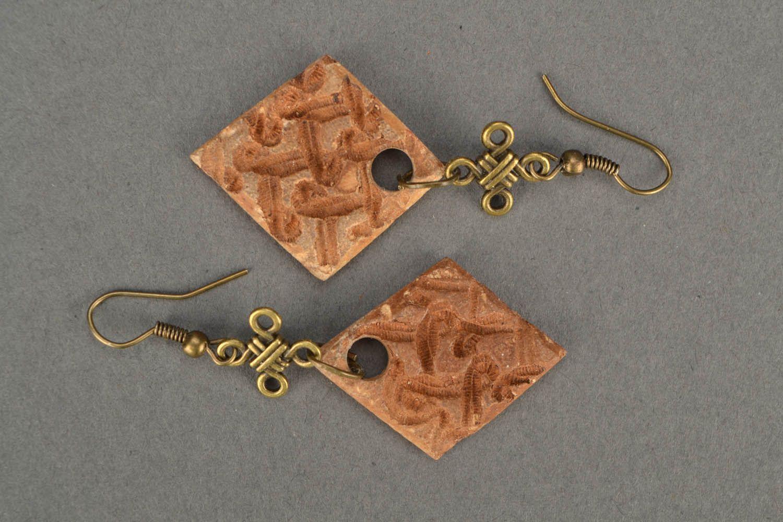 Square earrings photo 3
