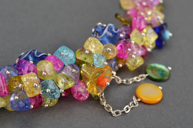 Bright homemade necklace photo 4