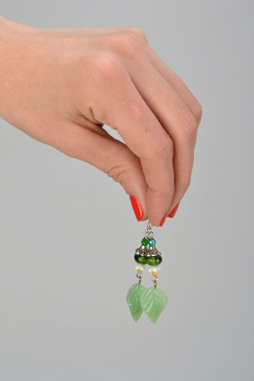 Lampwork glass earrings photo 2