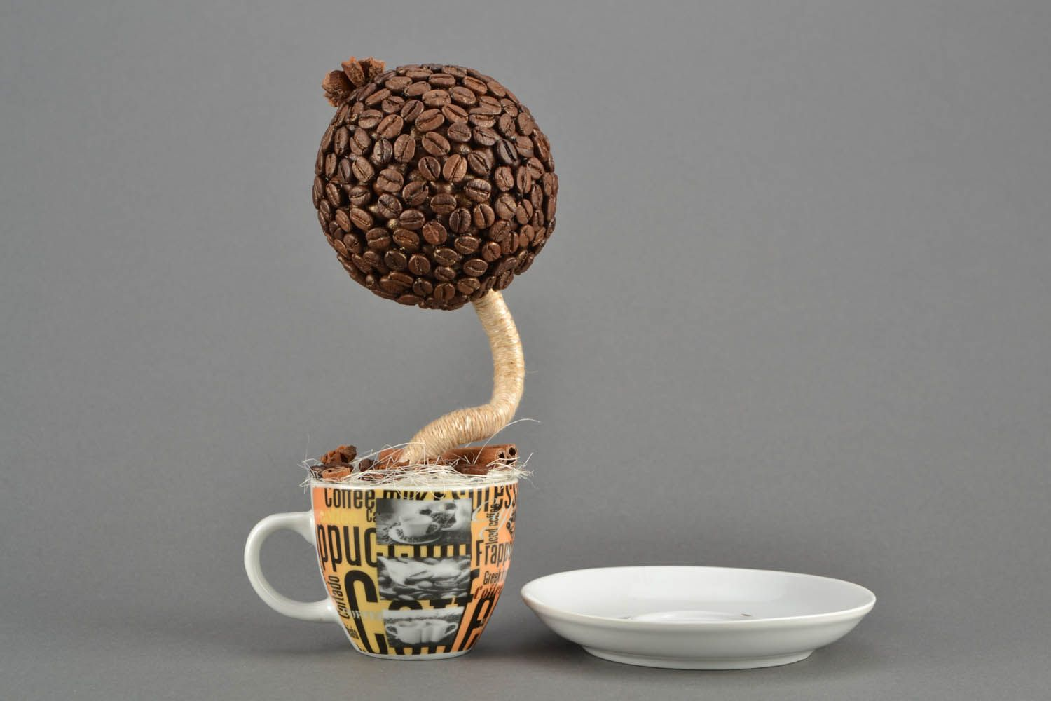 Coffee topiary in a cup photo 3