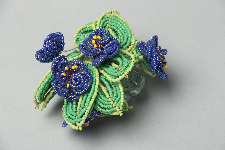 Madeheart deko blumen aus perlen im glas blumentopf veilchen for Blumentopf deko