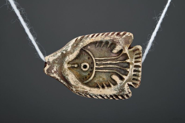 Ceramic pendant Fish photo 3