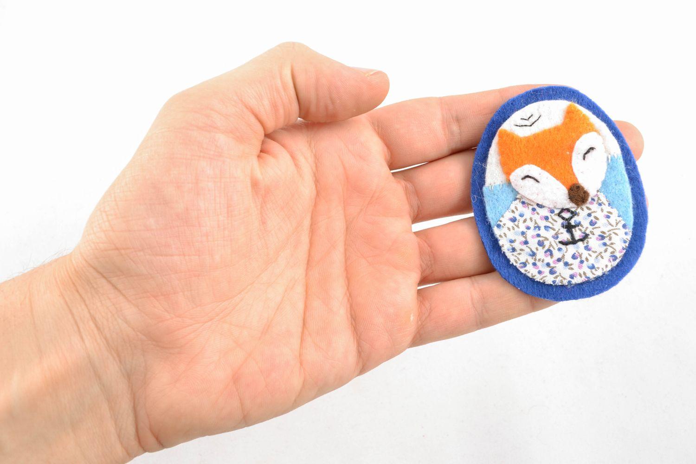 Textile felt brooch badge Fox photo 4