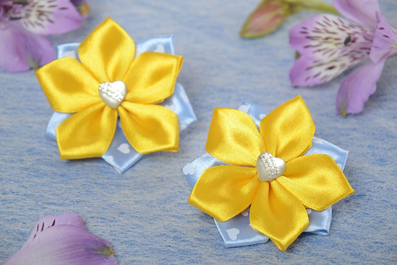 Сделать цветок из атласной лента болобан