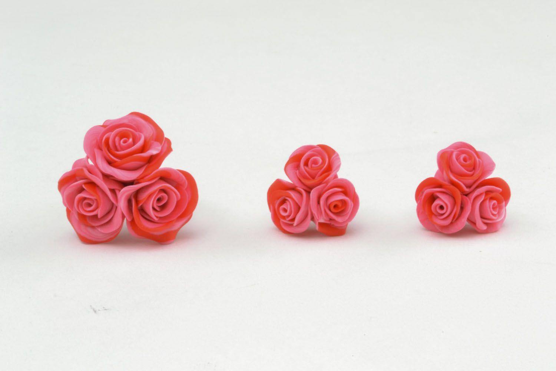 Plastic jewelry set Roses photo 3