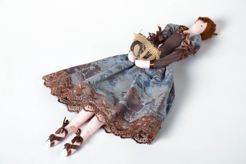 Decorative doll made of natural fabrics photo 2