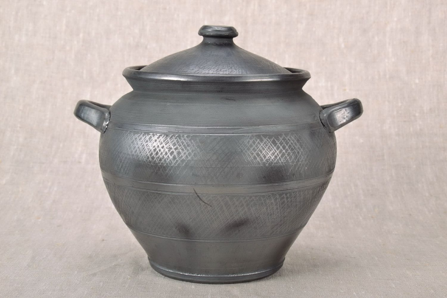 Clay pot for baking with lid  photo 2