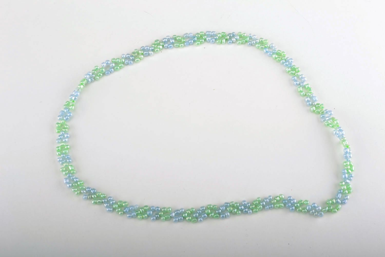 Homemade beaded necklace photo 3
