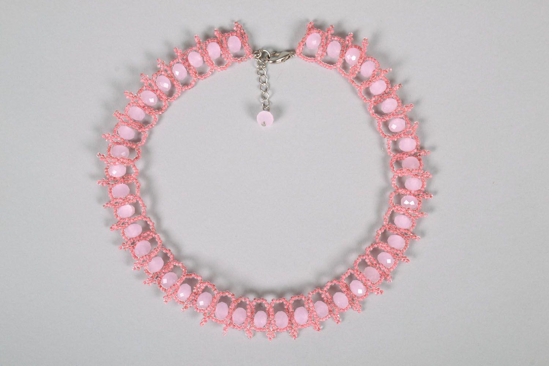 Плетеное ожерелье из бисера фото 3