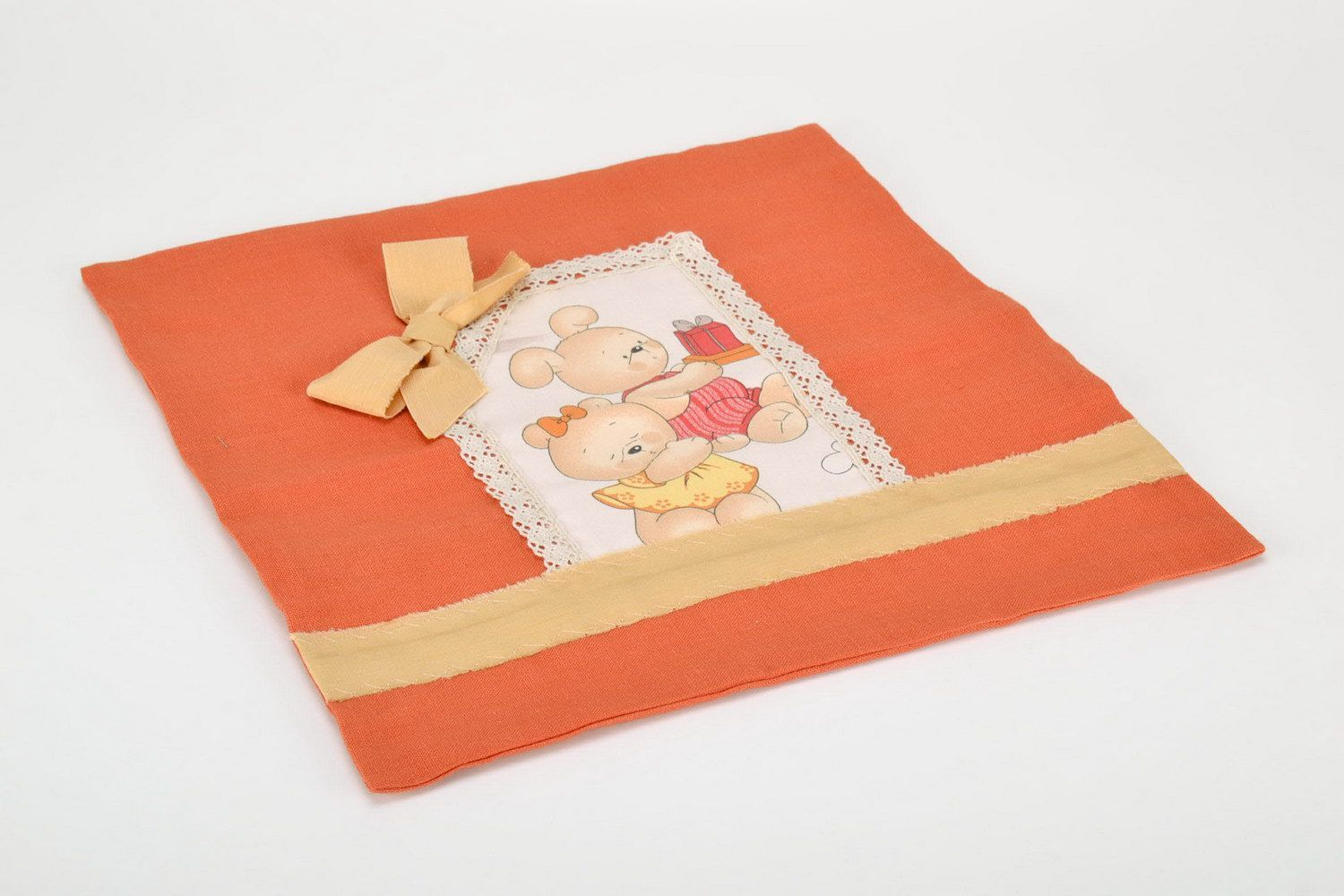Cotton pillow-case with teddy-bears photo 4
