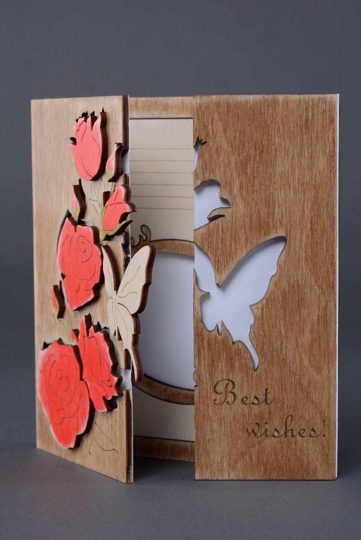 Тихого, изготовление деревянных открыток на заказ