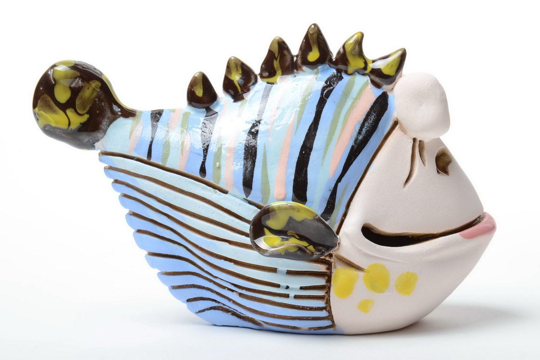 money boxes Beautiful handmade designer painted semi porcelain money box funny Fish - MADEheart.com