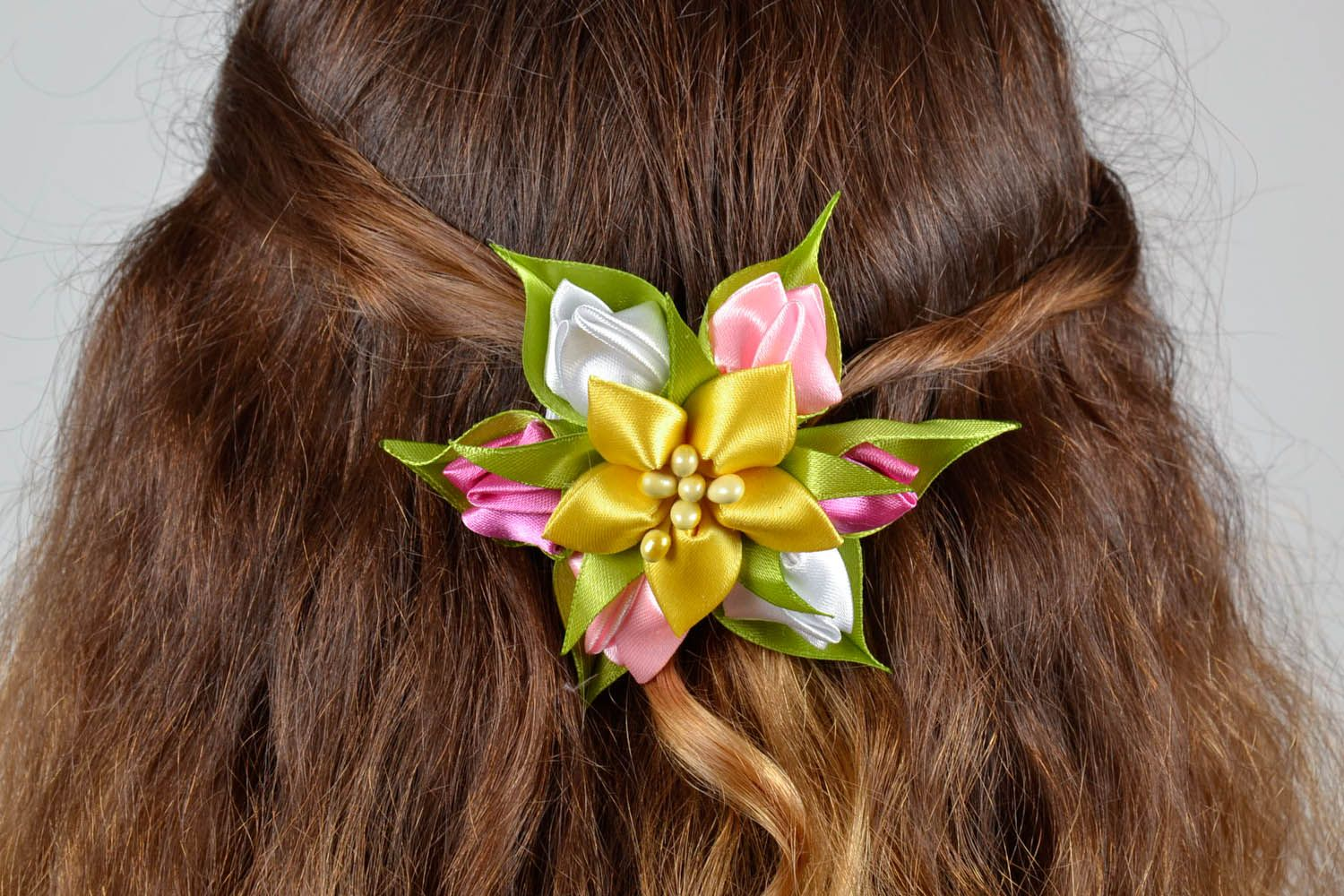 Hairpin with flowers Bouquet photo 5