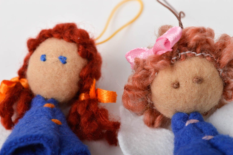 keychains Handmade key chain unusual dolls gift ideas set of 2 items textile toys - MADEheart.com