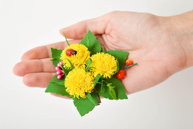Handmade Blume Haarspange Damen Modeschmuck Accessoire für Haare Mode Accessoire foto 2
