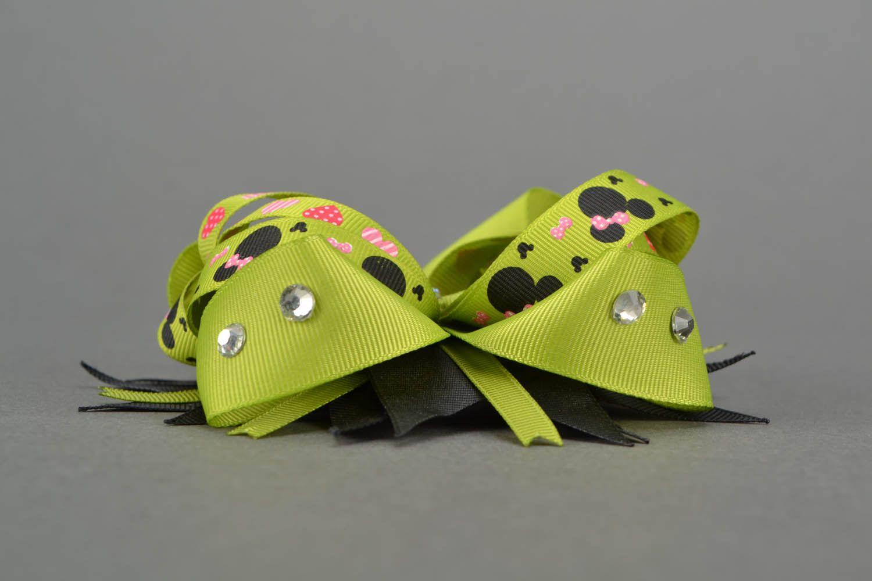 Hair clip made of ribbons photo 4