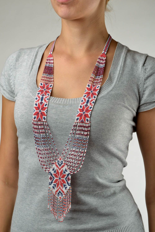 Beaded necklace handmade accessory beaded gerdan designer fashion jewelry photo 1