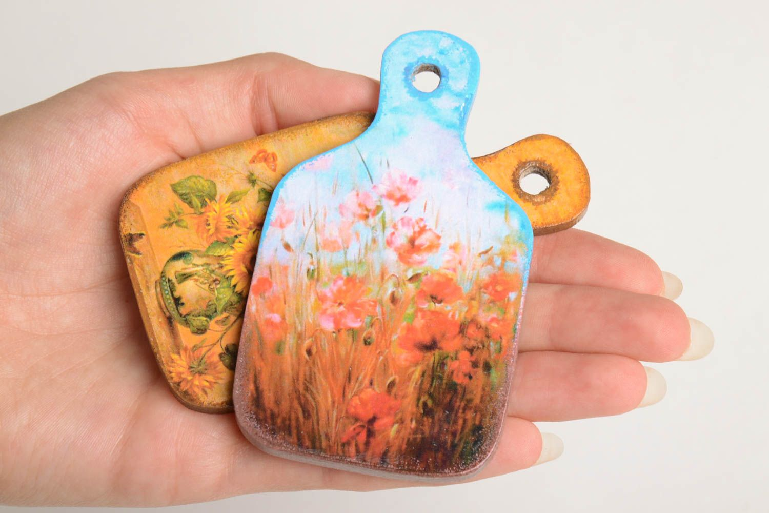 Handmade souvenir magnet fridge magnet 2 pieces small gifts decorative use only photo 4