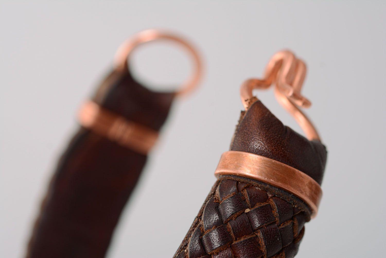 Geflochtenes Armband aus Leder foto 2