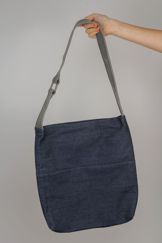 nuovo stile 1f92e fd408 Borsa interessante di jeans fatta a mano borsetta bella accessorio da  ragazza