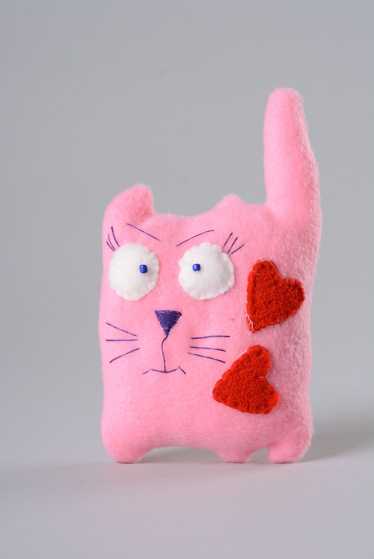 Fabric fleece toy Cat in Love photo 1