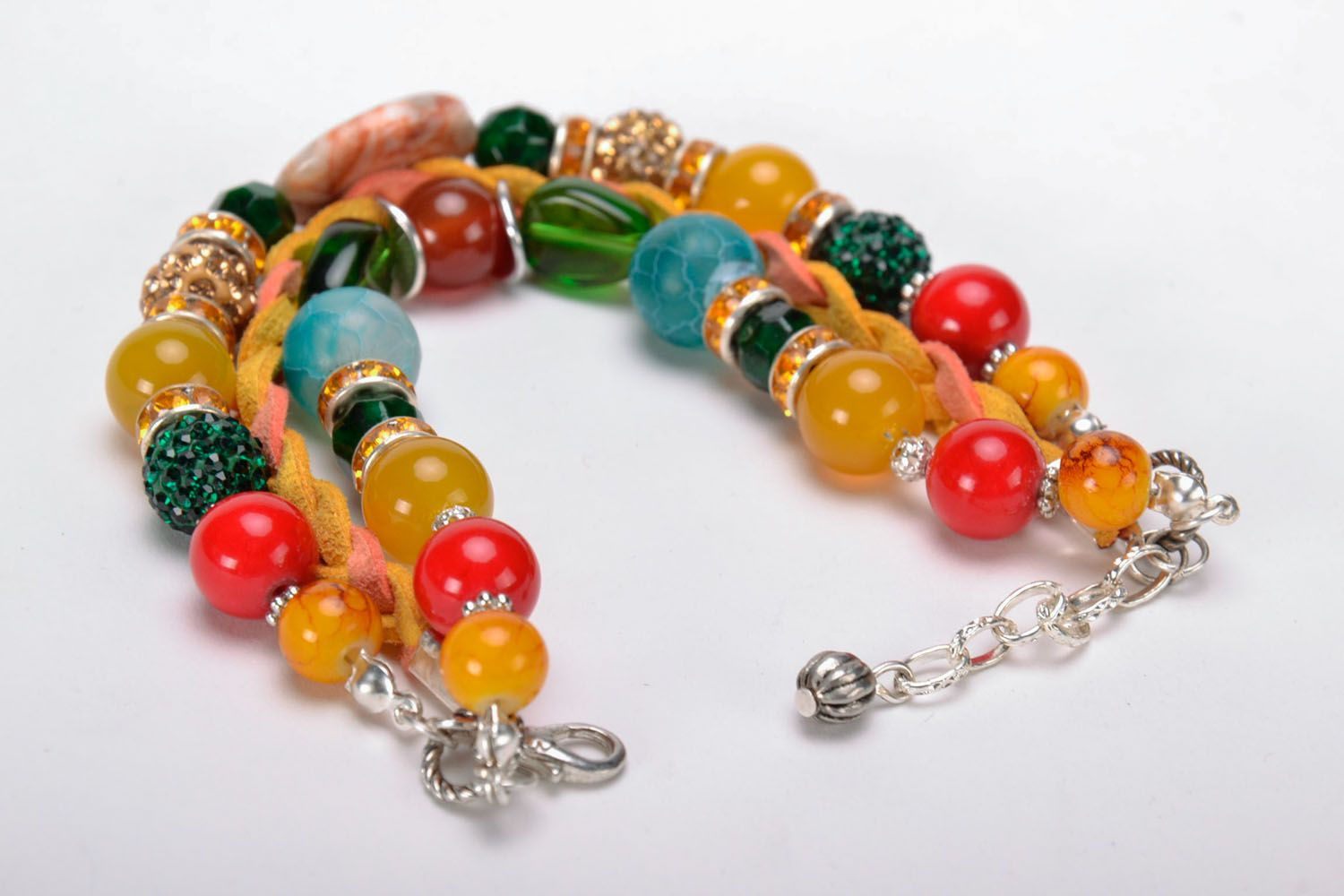 Bracelet made of natural stones photo 2