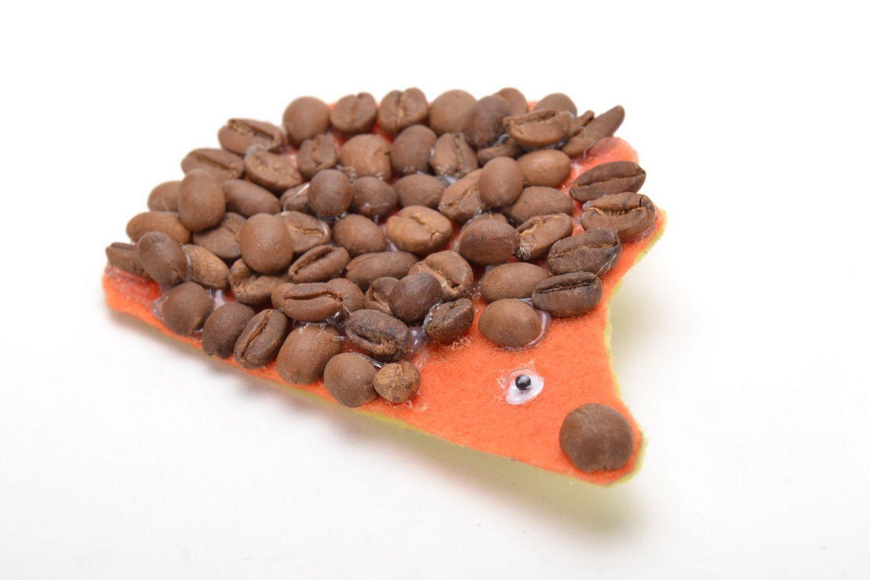 Designer brooch in the shape of hedgehog photo 1
