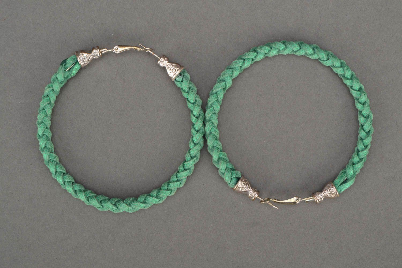 Green woven bracelet photo 3