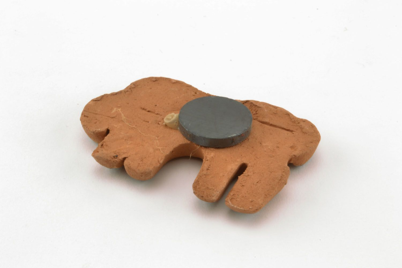 Clay fridge magnet in the shape of elephant photo 4