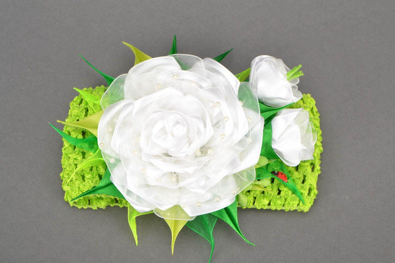 Headband White Rose photo 1
