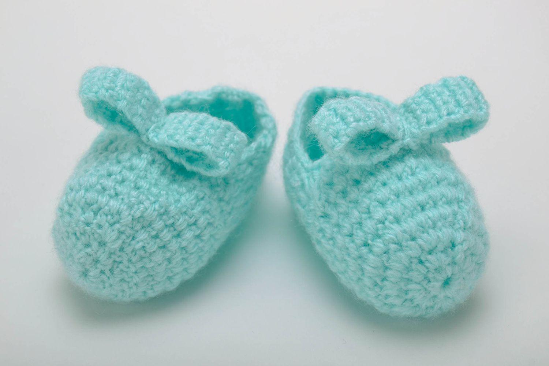 Вязанье для новорожденных пинетки крючком 310