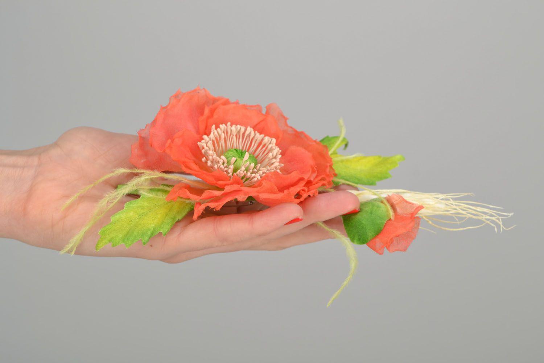 Gentle flower brooch photo 2