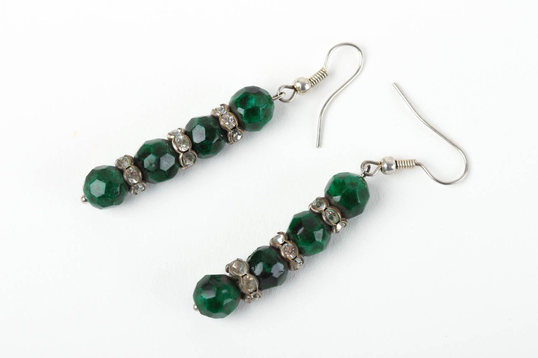 Beautiful handmade beaded earrings gemstone earrings costume jewelry designs photo 2